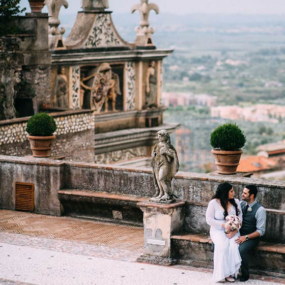 Julianna & Christopher elope in Rome