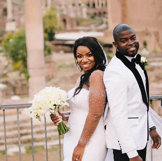 Keisha & Ayo elope in Rome