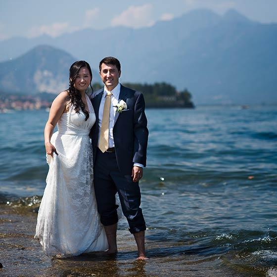 Yingying & Matt lake maggiore elope