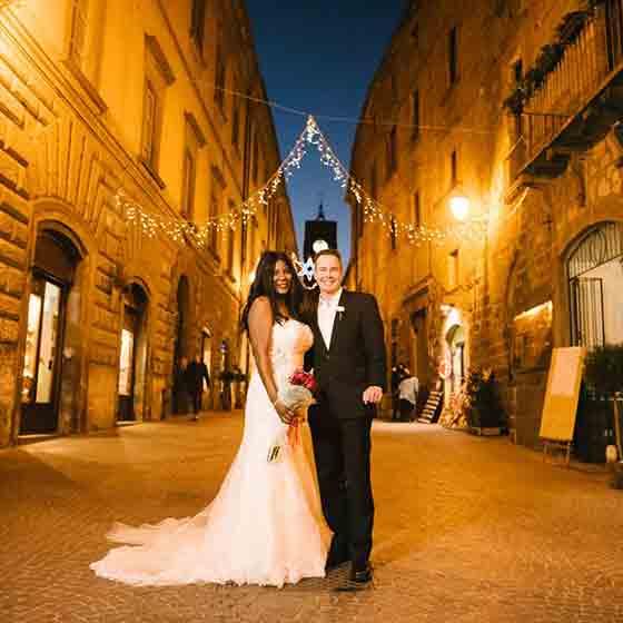 charmin & michael elope in Orvieto Umbria