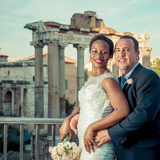 joanne & mark elope in Rome