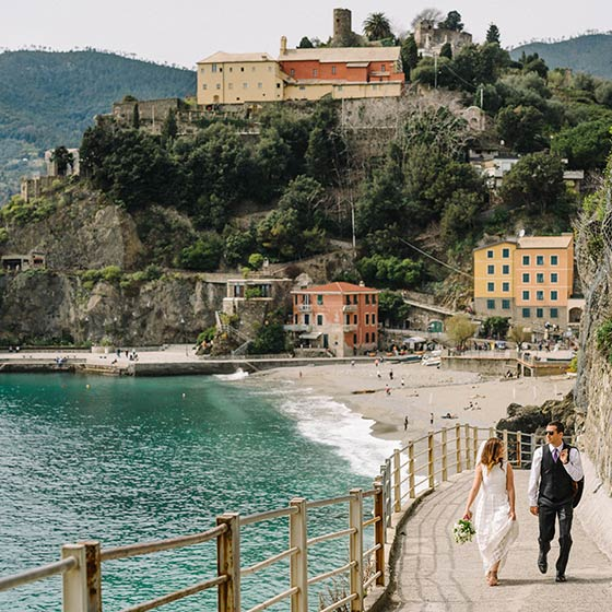 Sierra and Michael elope on Italian Riviera